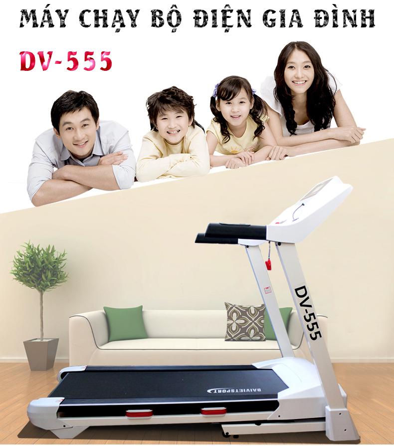 Tổng quan về máy chạy bộ điện Đại Việt DV 555
