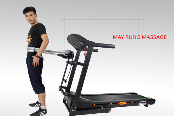 Bài tập massage sử dụng máy rung trên máy chạy bộ điện